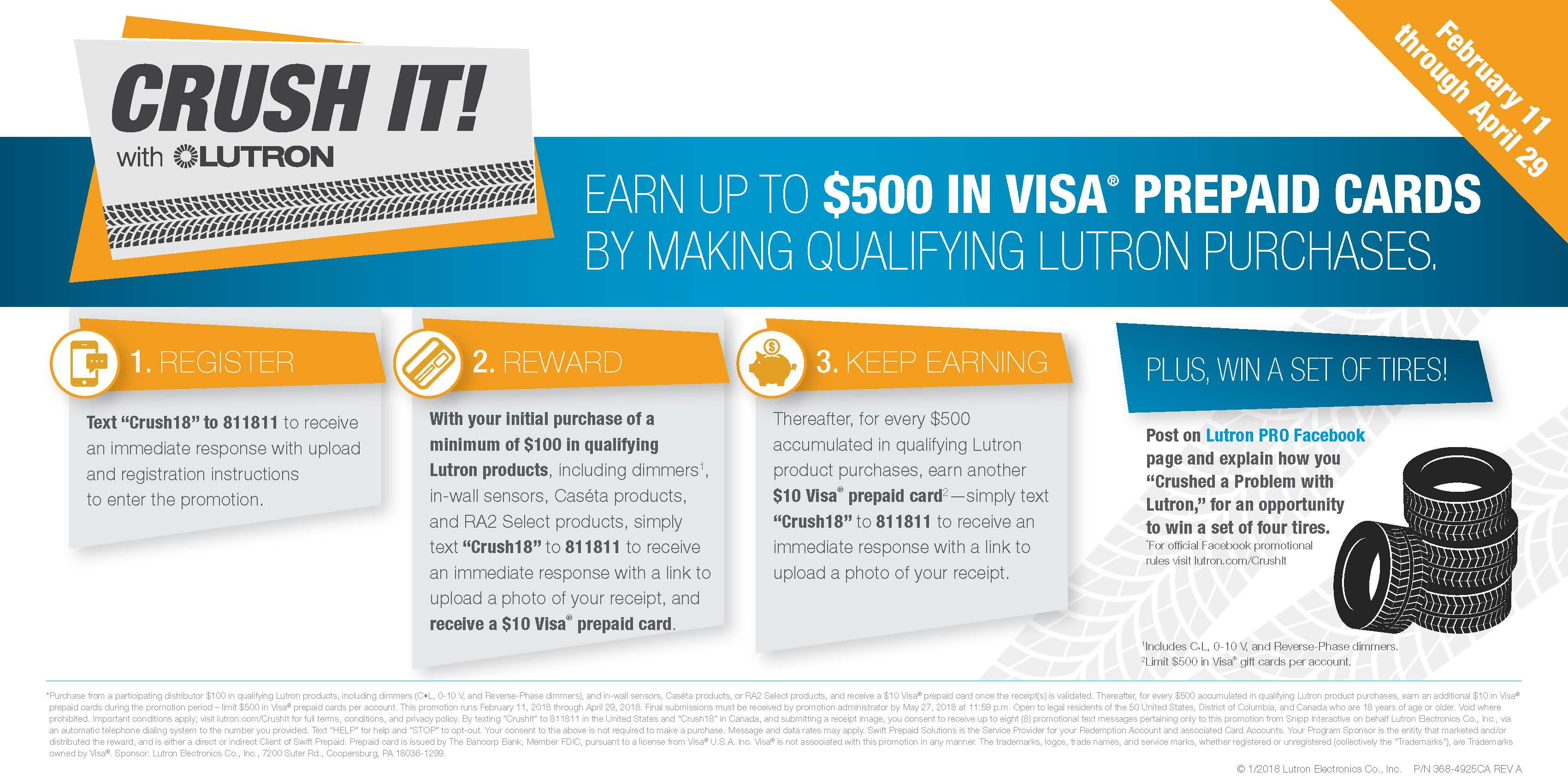 lutron crush it promo